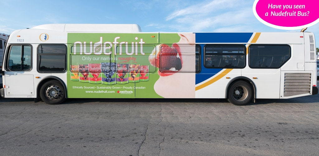 Nudefruit bus ad
