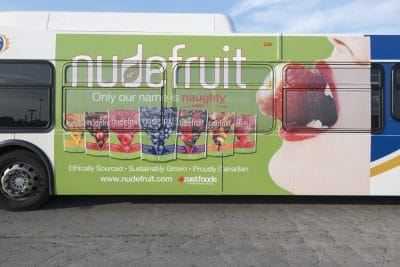 nudefruit bus ad