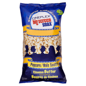 Cineplex Big Screen Snax Bagged Popcorn
