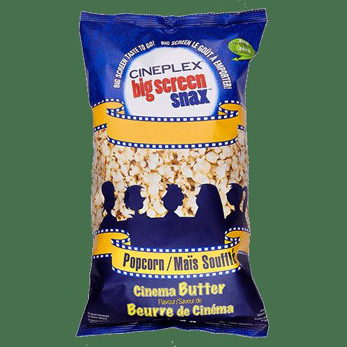 Cineplex Big Screen Snax Bagged Popcorn