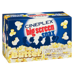 Cineplex Big Screen Snax Butter Microwave Popcorn