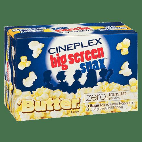 Cineplex Big Screen Snax Butter Microwave Popcorn