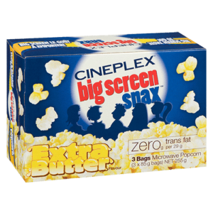 Cineplex Big Screen Snax Extra Butter Microwave Popcorn